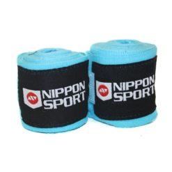 Nippon-Sport-Boxningslindor-elastiska-4m-turkos