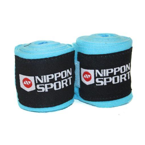 Nippon Sport Boxningslindor elastiska 4m turkos