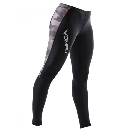 OMPU Womens Multisport Compression Tights Dark Camo 1