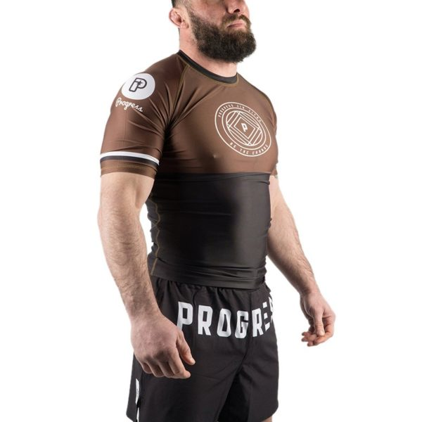 Progress Jiu Jitsu Rashguard Ranked brun 2