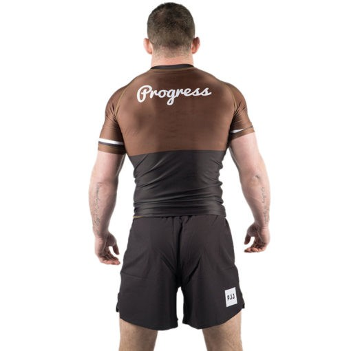 Progress Jiu Jitsu Rashguard Ranked brun 4