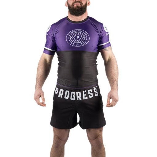 Progress Jiu Jitsu Rashguard Ranked lila 3