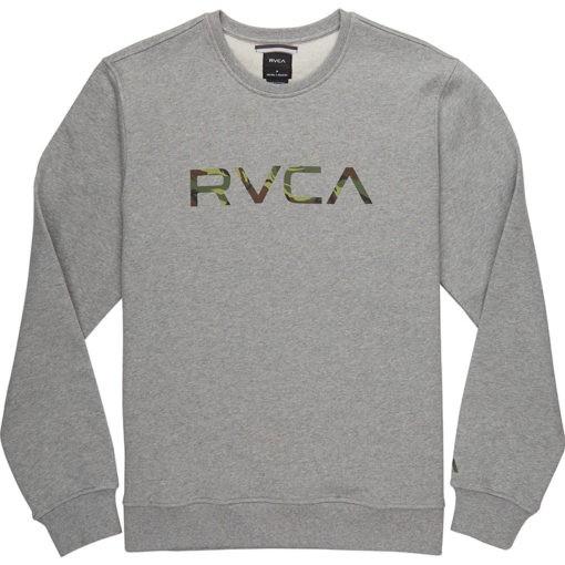 RVCA Crewneck Big Logo gra camo 1