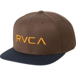 RVCA Snapback Twill III brun