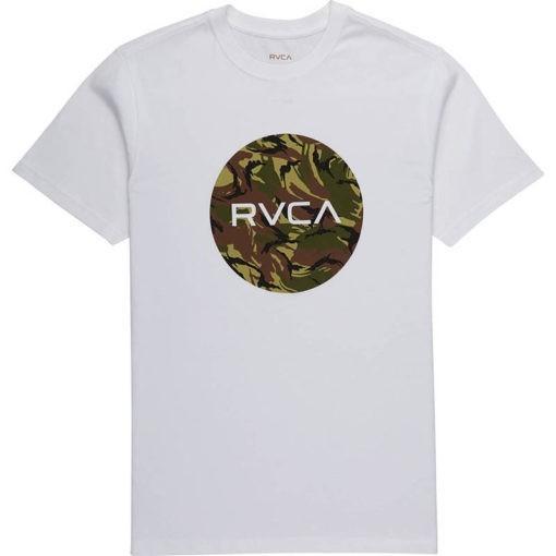 RVCA T shirt Standard vit camo 1