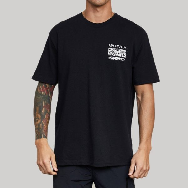 RVCA x Shoyoroll T shirt Defer Vaxsho svart 1