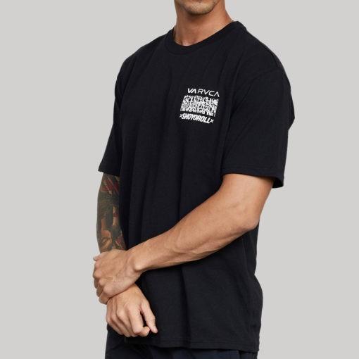 RVCA x Shoyoroll T shirt Defer Vaxsho svart 3