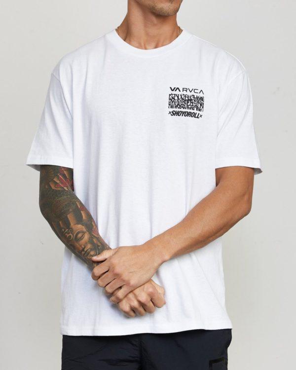RVCA x Shoyoroll T shirt Defer Vaxsho vit 1