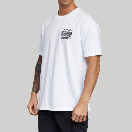 RVCA x Shoyoroll T shirt Defer Vaxsho vit 2