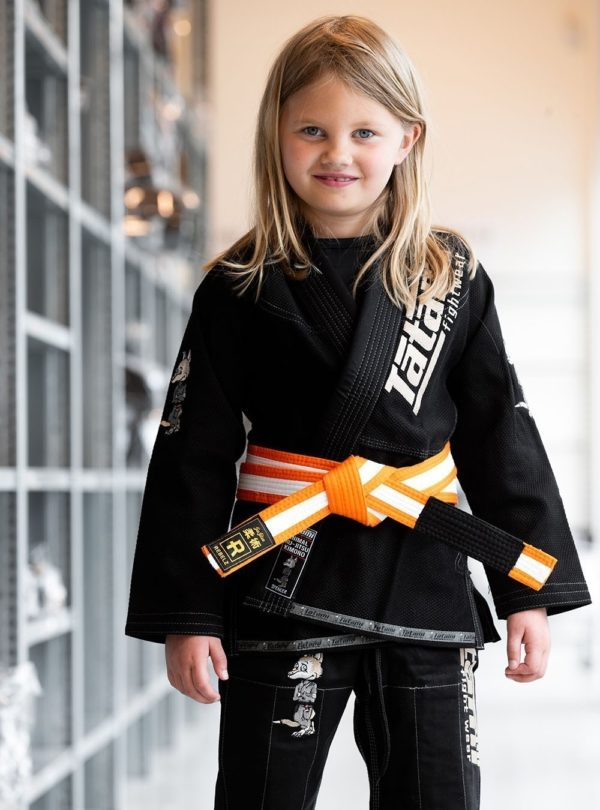 Rebelz BJJ Balte Kids orange vit 1