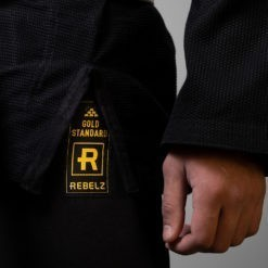 Rebelz BJJ Gi Gold Standard svart 4