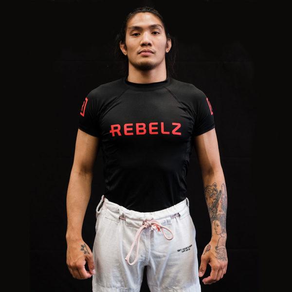 Rebelz Rashguard Black Red 1