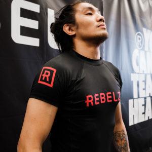 Rebelz Rashguard Black Red 2