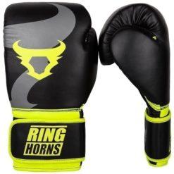Ringhorns Boxningshandskar Charger svart neon gul 1