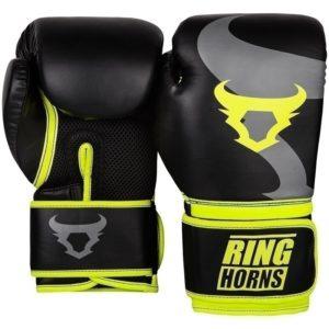 Ringhorns Boxningshandskar Charger svart neon gul 2