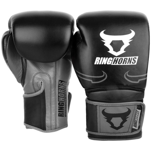 Ringhorns Boxningshandskar Destroyer svart gra 2