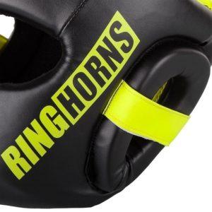 Ringhorns Huvudskydd Charger svart neon 4
