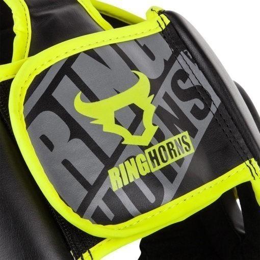 Ringhorns Huvudskydd Charger svart neon 6