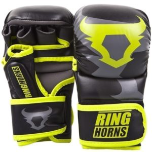 Ringhorns MMA Sparrainghandskar svart neongul 1