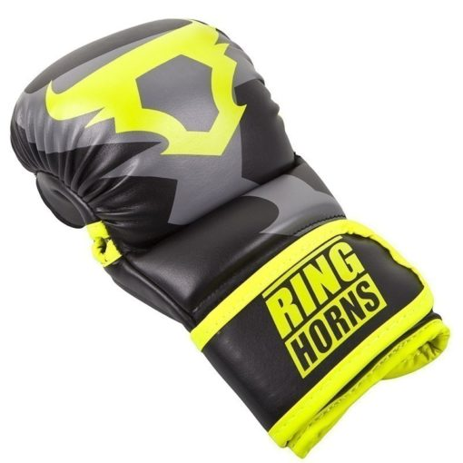 Ringhorns MMA Sparrainghandskar svart neongul 2