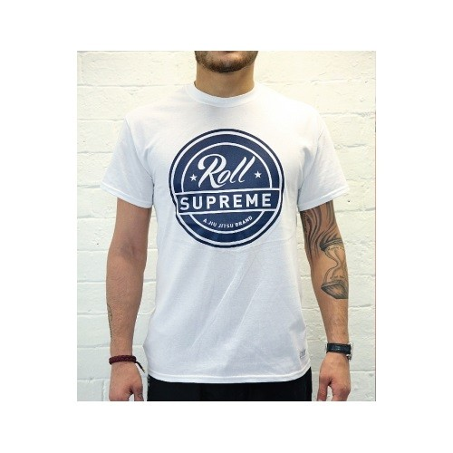 Roll Supreme T shirt Navy White T 1
