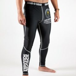 Scramble Grappling Spats Black 1