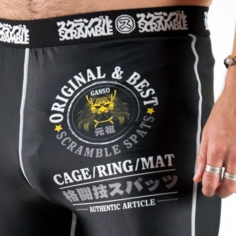 Scramble Grappling Spats Black 3