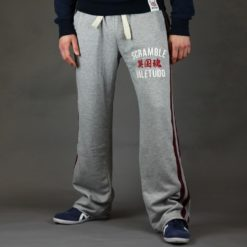 Scramble Jogging bottoms relaxatron grey and burgundy front