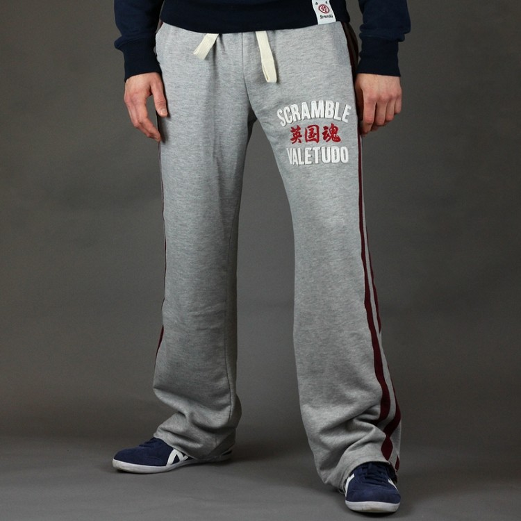 Scramble-Jogging-bottoms-relaxatron-grey-and-burgundy-front