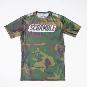 Scramble Rashguard Tactic Woodland Camo 1