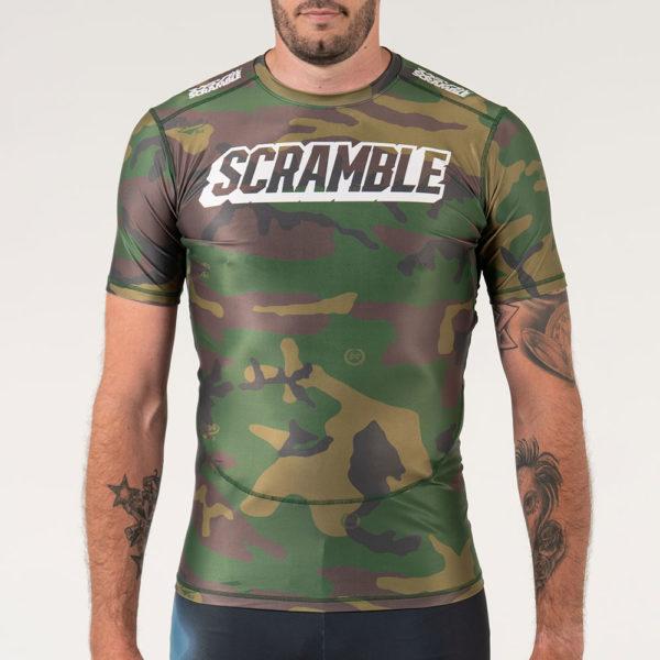 Scramble Rashguard Tactic Woodland Camo 4