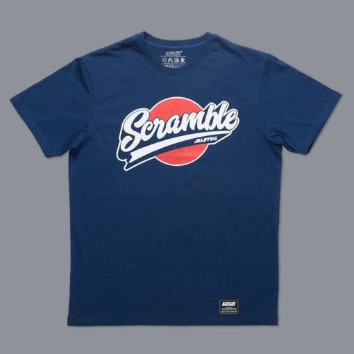 Scramble T shirt Sport Logo Navy 1