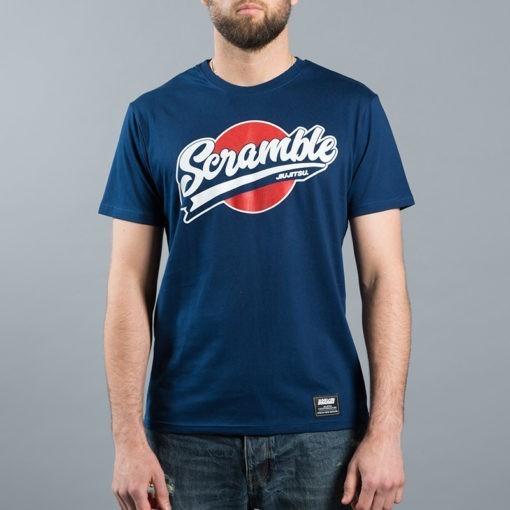 Scramble T shirt Sport Logo Navy 2