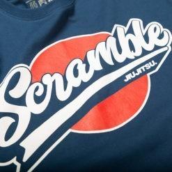Scramble T shirt Sport Logo Navy 3