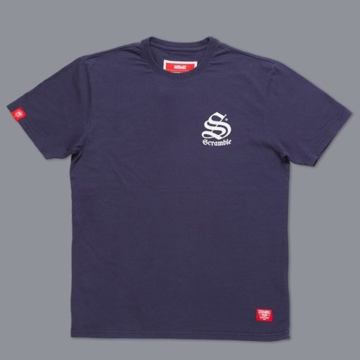 Scramble Toshi T Shirt Navy 1