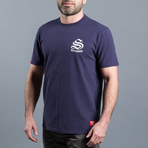 Scramble Toshi T Shirt Navy 3