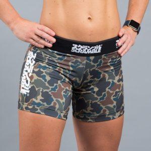 Scramble Womens Vale Tudo Shorts camo 1