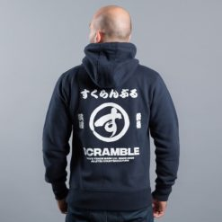 Scramble Zip Hoodie Brush Logo navy 2
