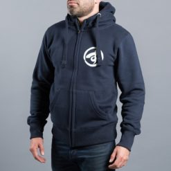 Scramble Zip Hoodie Brush Logo navy 3