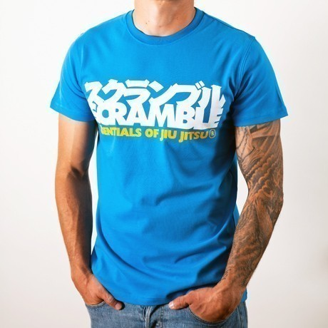 Scramble essentials blue tshirt 1