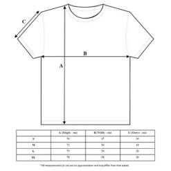 Scramble tshirt size