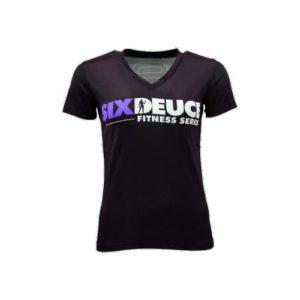 Six Duece Fitness Dri Fit V neck Shirt purple 1