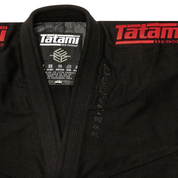 Tatami BJJ Gi Estilo Black Label black red 8