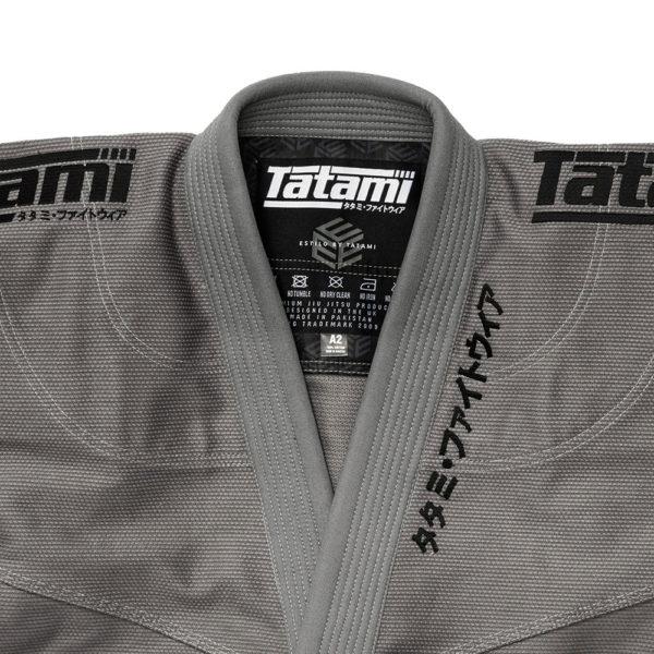 Tatami BJJ Gi Estilo Black Label grey black 8