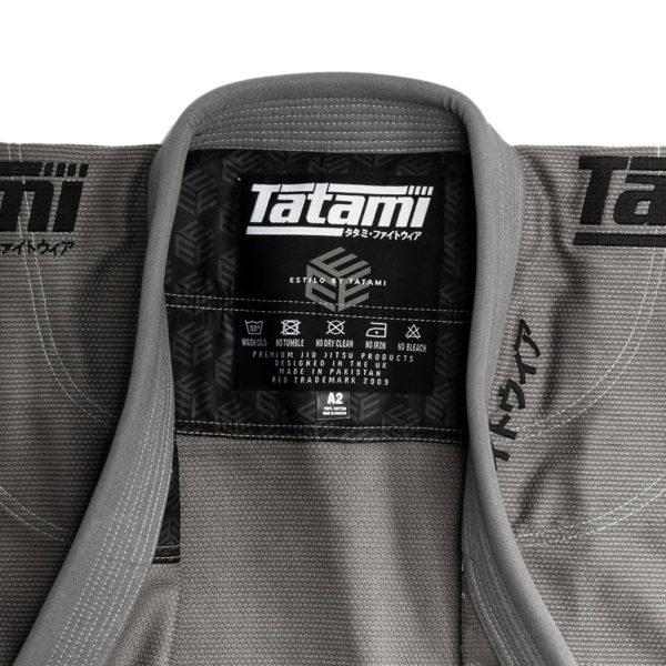Tatami BJJ Gi Estilo Black Label grey black 9