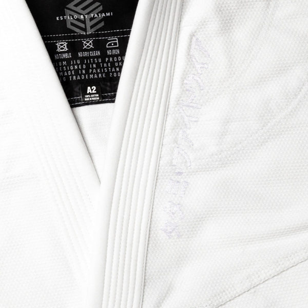 Tatami BJJ Gi Estilo Black Label white grey 8