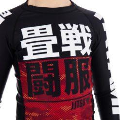 Tatami Kids Rashguard Essential Camo röd 4