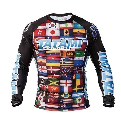 Tatami Rashguard Dean Lister Flags 1