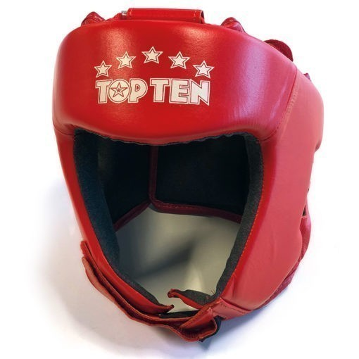 Top Ten AIBA Boxningshjalm lader rod 4