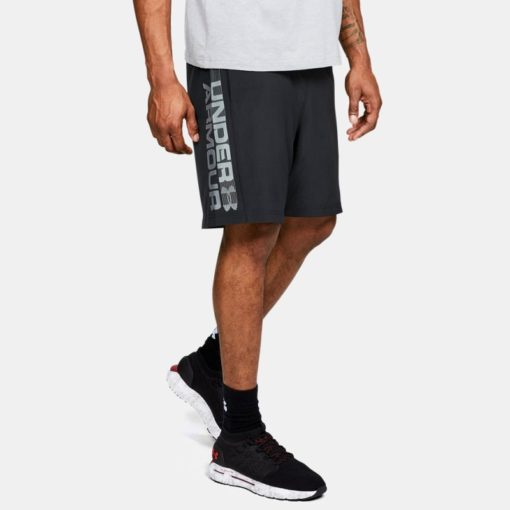 Under Armour Mens Shorts Woven Wordmark 1320203 001 1